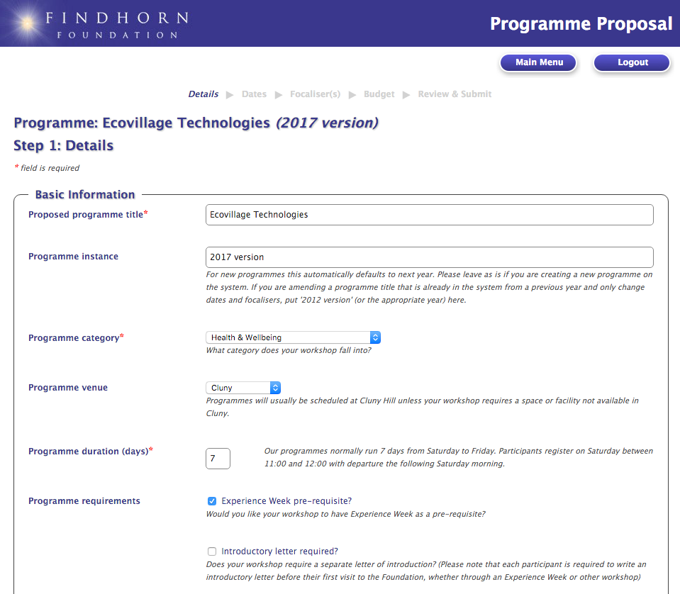 "<span class=""entry-title-primary"">Findhorn Foundation</span> <span class=""entry-subtitle"">Proposals submission system</span>"